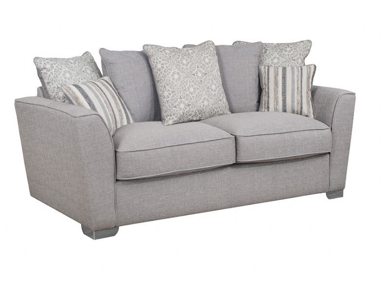 Revo 3 Seater Pillow Back Fabric Sofa