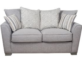 2 Seater Pillow Back Fabric Sofa