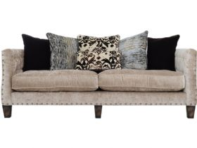 Large Fabric Pillow Back Sofa