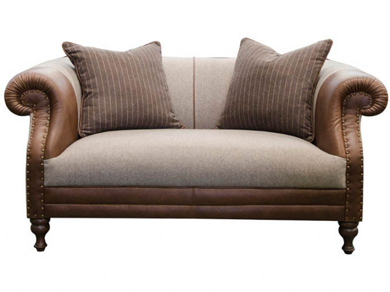 Leather & Fabric Small Sofa