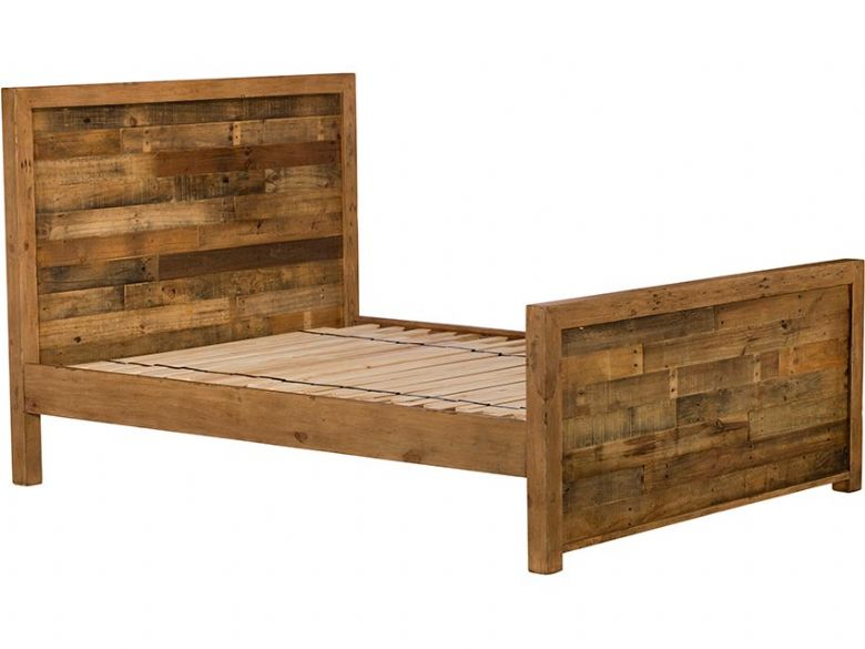 Halstein 5'0 King Size Reclaimed High Foot End Bed