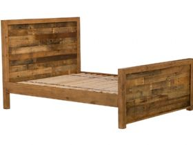 5'0 King Size Reclaimed High Foot End Bed