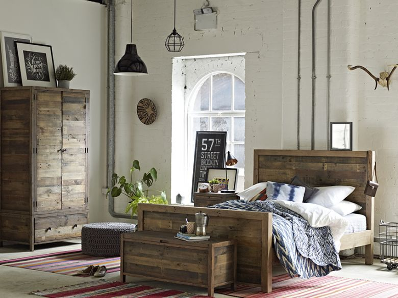 Halstein reclaimed rustic bedroom collection