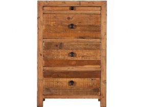 Reclaimed 3 Drawer Bedside