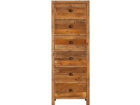 Reclaimed 6 Drawer Tallboy