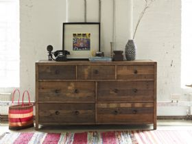 Halstein reclaimed wide 7 drawer chest
