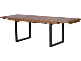 Halstein reclaimed 180cm extending dining table - fully extended