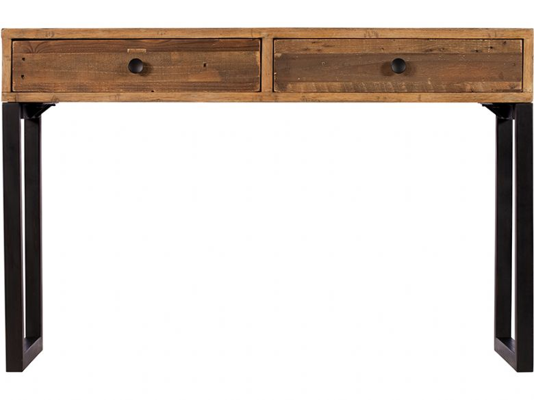 Halstein reclaimed 2 drawer console table