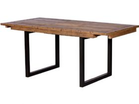 Halstein reclaimed 140cm extending dining table - fully extended