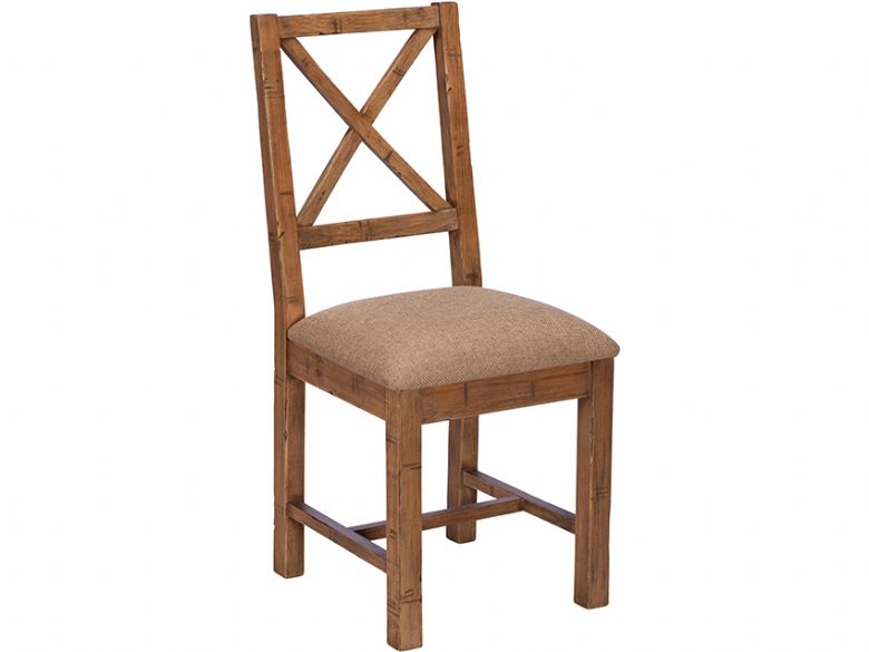 Halstein reclaimed cross back dining chair