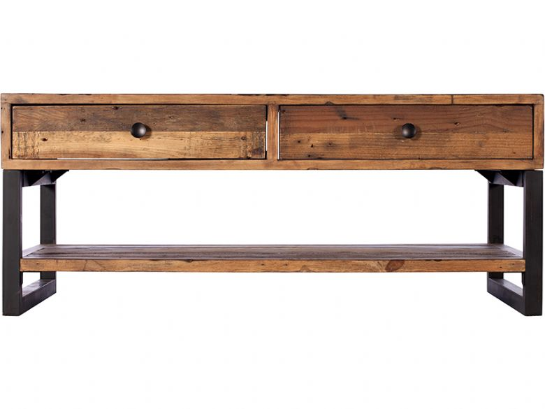Halstein reclaimed coffee table with drawer