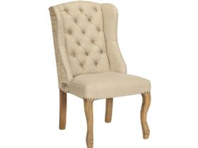 Lord fabric classic dining chair with vintage script back