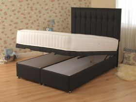 Ash 800 4'6 Double Front Opening Ottoman & Mattress