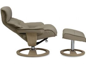Lanwood Recliner & Stool Reclined