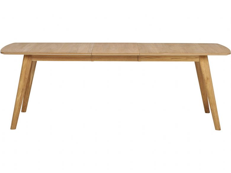 Shackleton Oak 1.5m Extending Dining Table Extended