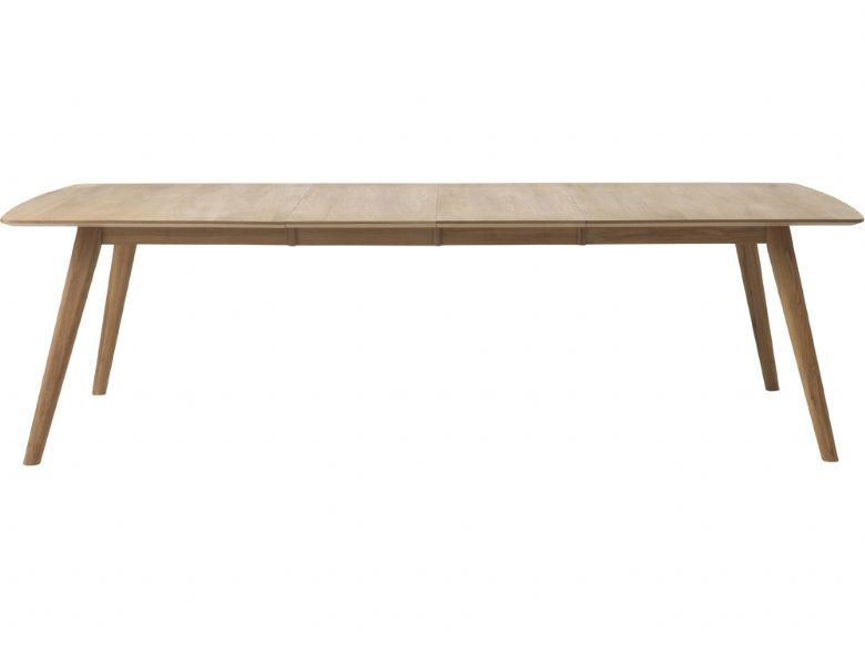 Shackleton Oak 1.8m Extending Dining Table Extended