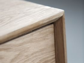 Shackleton Oak 2 Section Sideboard Corner Detail