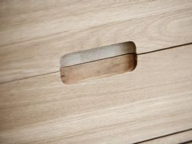 Shackleton Oak 2 Section Sideboard Drawer Detail