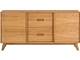 Oak 3 Section Sideboard