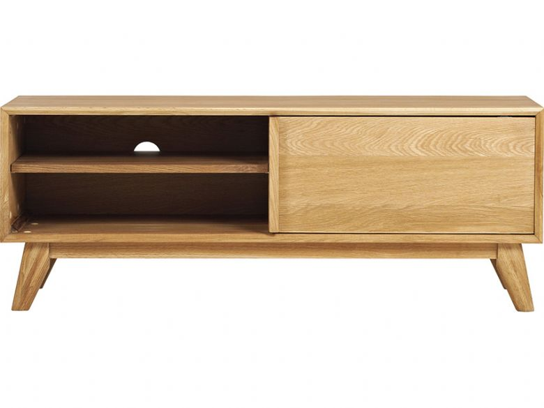 Oak TV Lowboard With 1 Door