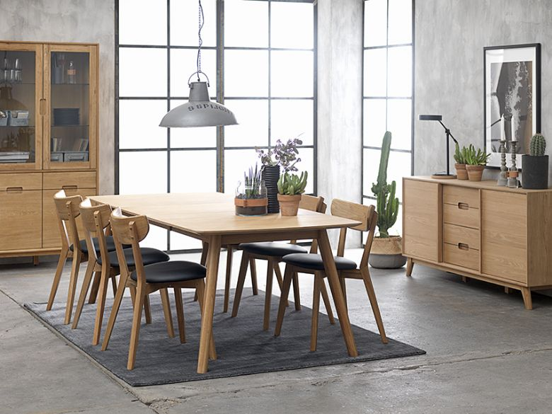 Shackleton oak dining set