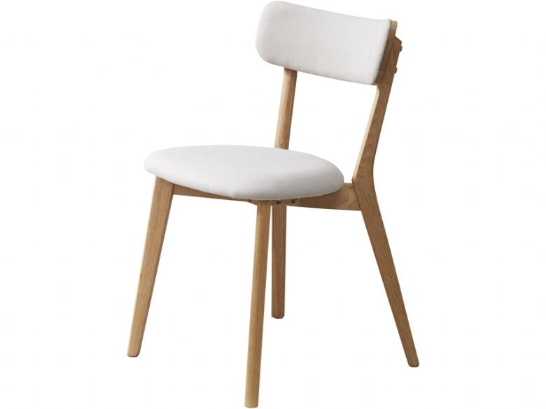 Oak Pero Chair With Fabric Seat & Back