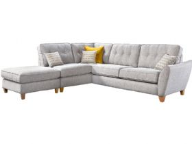 Large LHF Corner Sofa & Stool