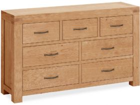 Oak 3 Over 4 Drawer Chest