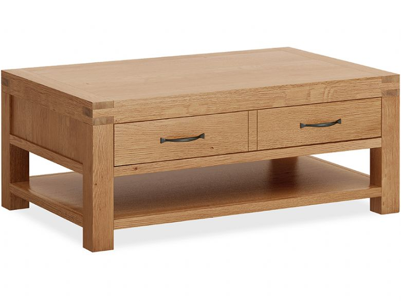 Bromley Oak Coffee Table With Drawers