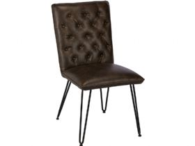 Bond Dining Chair in Brown Bonded Leather