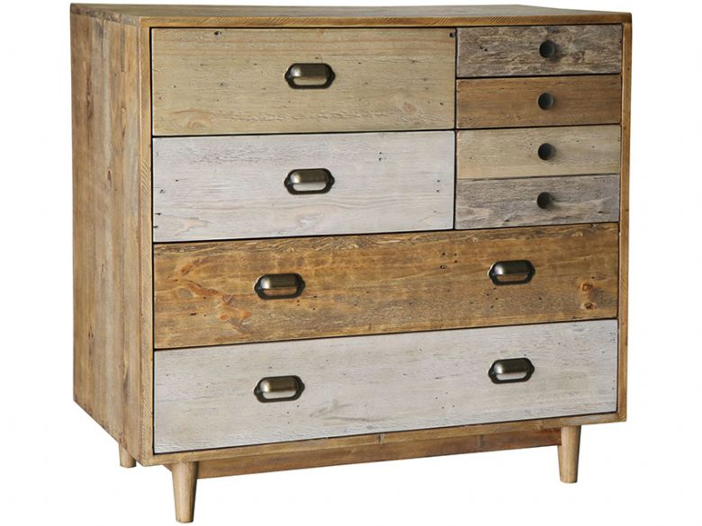 Venice Reclaimed Pine 7 Drawer Chest
