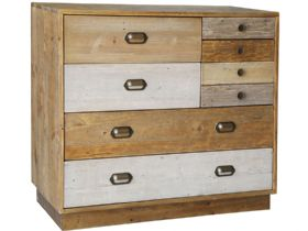 Reclaimed Pine 7 Drawer Chest with Plinth