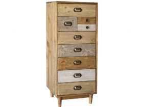 Venice Reclaimed Pine Tall Wellington Chest