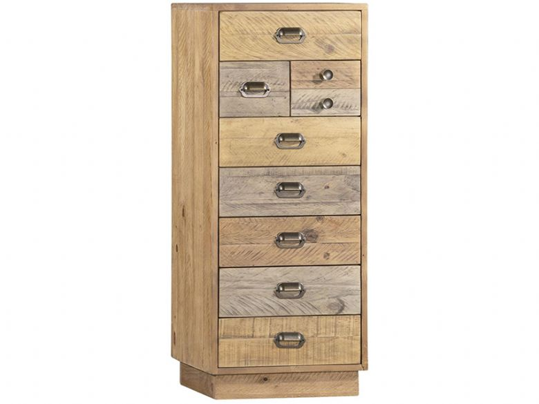 Venice Reclaimed Pine Tall Wellington Chest with Plinth