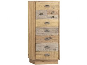 Reclaimed Pine Tall Wellington Chest with Plinth