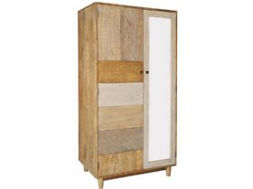 Reclaimed Pine Double Wardrobe