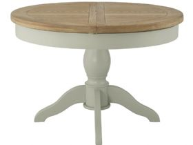 Painted Round Butterfly Extending Dining Table
