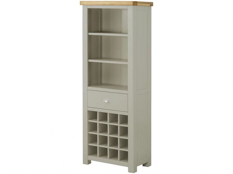 Hockley Grand Painted Bookcase with Wine Holders