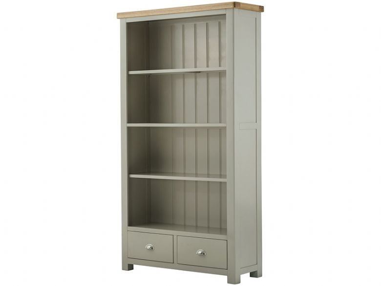 Hockley Grand Painted Wide Bookcase with Drawers