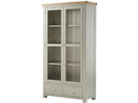 Painted 2 Door Glass Display Cabinet