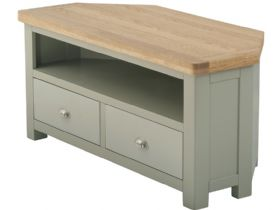 Hockley Grand Painted 2 Drawer Corner TV Unit