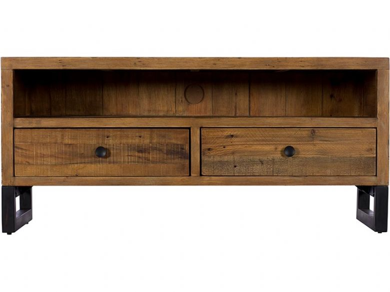 Halstein reclaimed TV unit with drawers