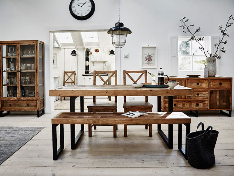 Halstein reclaimed kitchen and dining room furniture