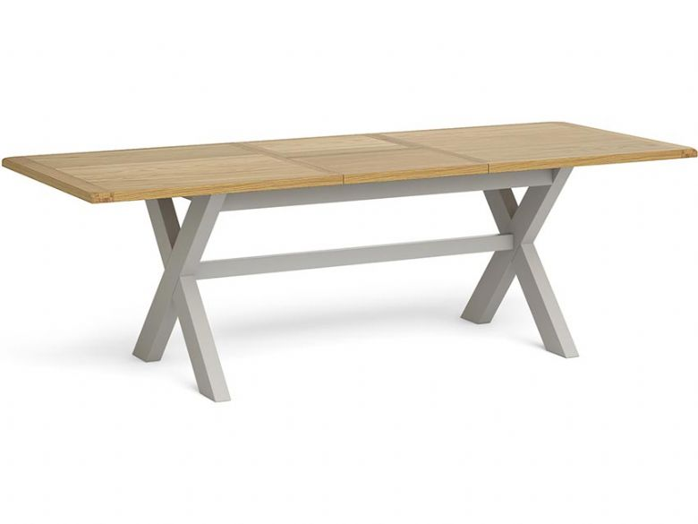 Ophelia Cross Large Extending Dining Table Open