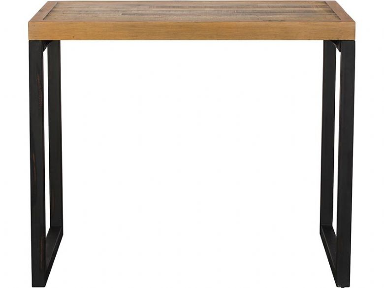 Halstein reclaimed wood bar table industrial look