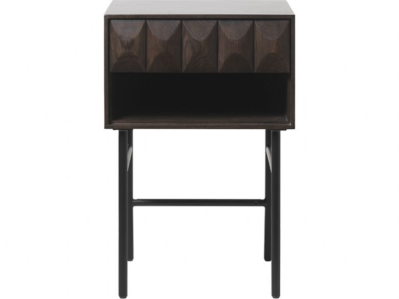Anastasia dark wood side table