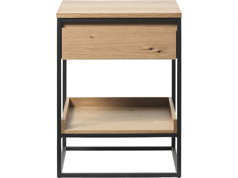 Rosta contemporary wood side table available at Furniture Barn