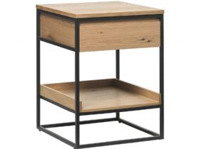Rosta side table with natural oak finish