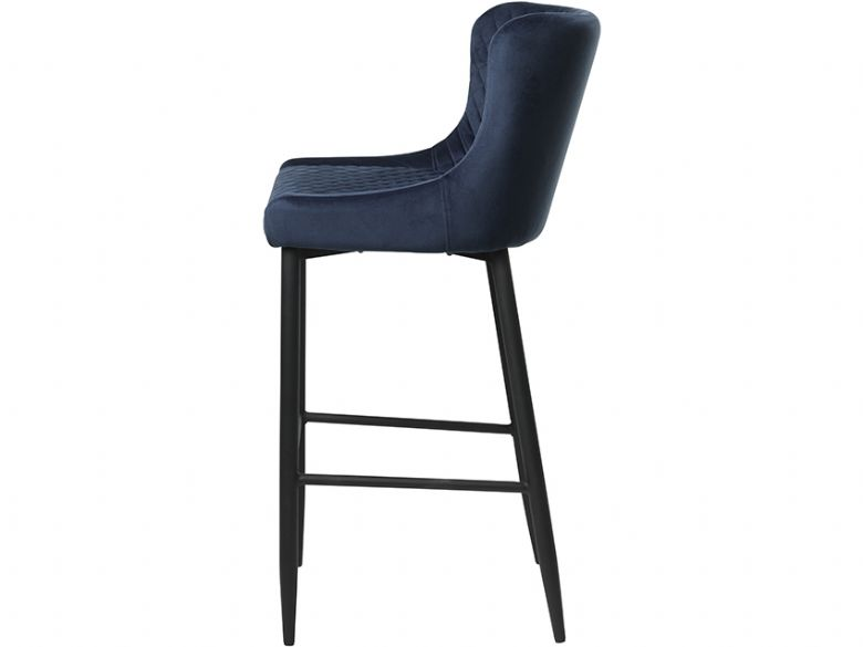 Houston contemporary quilted barstool in blue