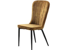 Mayfield amber velvet dining chair available at Furniture Barn